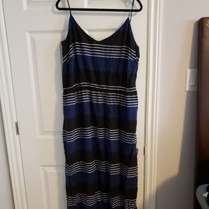 Striped black and blue dress, 3x plus sized